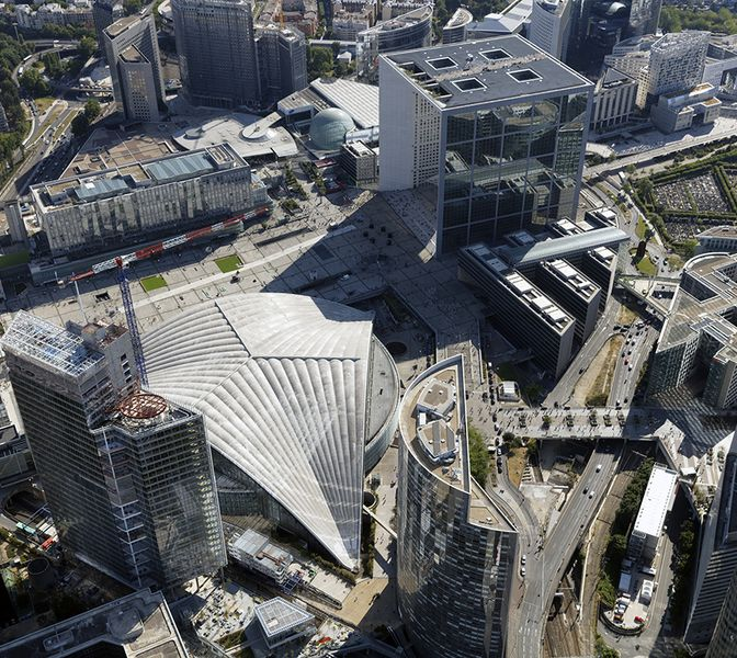 Aerial view of the Place Carpeaux (c) Philippe-Guignard