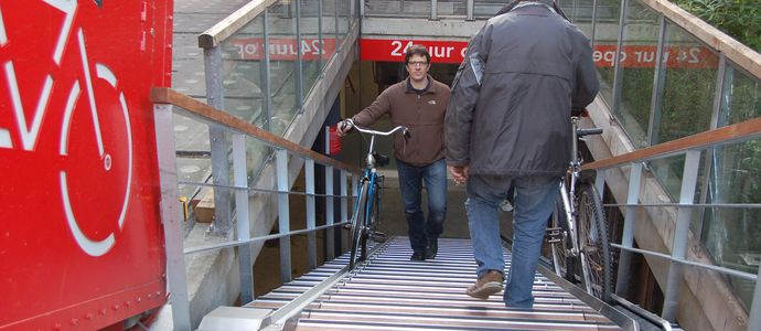 Make way for the bicycle escalator