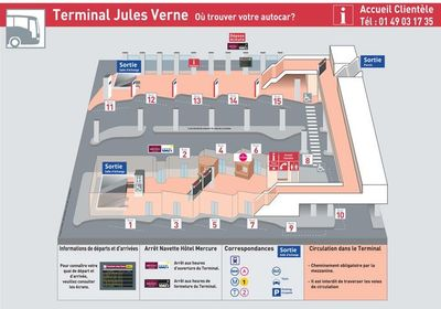Map of Terminal Jules Verne in Paris La Défense