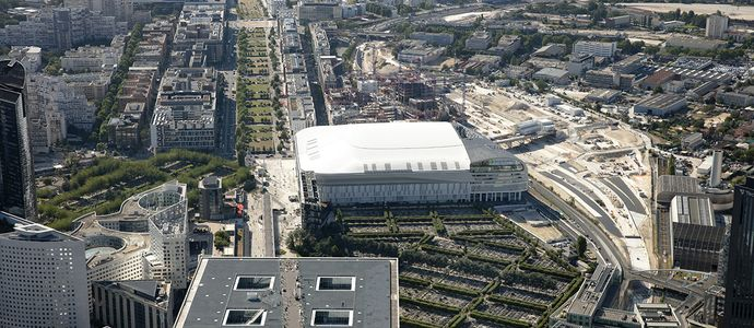 Paris La Défense Arena - view from the sky - 2019 © PLD - Philippe Guignard