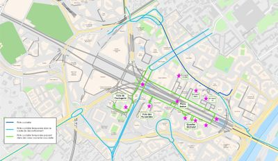 Cycling plan by covered routes