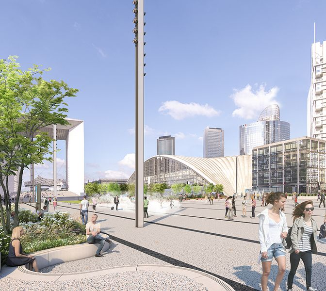 The Place de La Défense will begin its metamorphosis in early March!