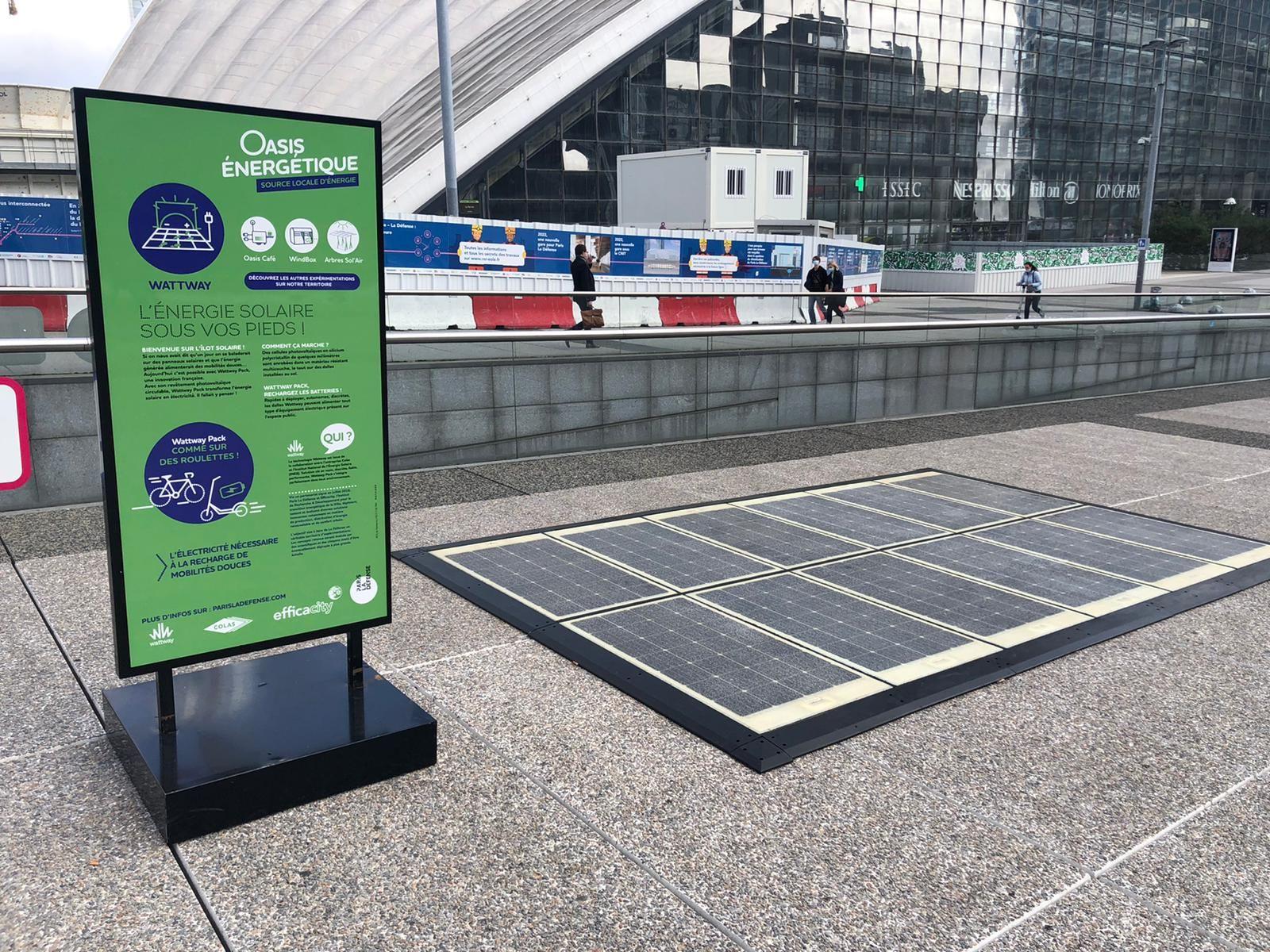 Oasis énergétiques Paris La Défense - Le Wattway Pack